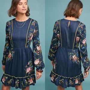 Anthropologie Jamila Embroidered Tunic Dress